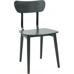 Chaise Marcus - noir - 430 x 400 x 800 mm