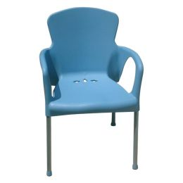 Chaise Eva - bleu - 55 x 52 x 85 cm