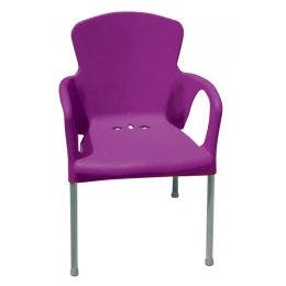 Chaise Eva - pourpre - 55 x 52 x 85 cm