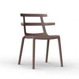 Chaise Tokyo Chocolat - polyprop. renforcé fibre de verre