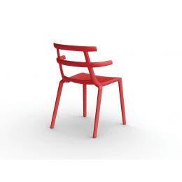 Chaise Tokyo Rouge - en polyprop. renforcé par fibre de verre