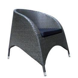Fauteuil Mahault gris moucheté - 80 x 68 x 78 cm