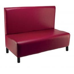 Banquette Lisbonne - revêtement simili cuir rouge