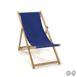 Chaise chilienne sans accoudoirs - bleu - 61 x 96 cm