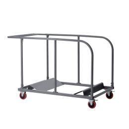 Chariot pour tables rondes pliables