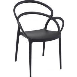 Fauteuil Mila en polypropylène - couleur noir