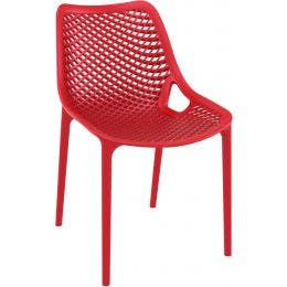 Chaise AIR - rouge - 50 x 60 x 82 cm
