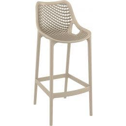 Tabouret Air Bar 75 - Taupe - 45 x 53 x 105
