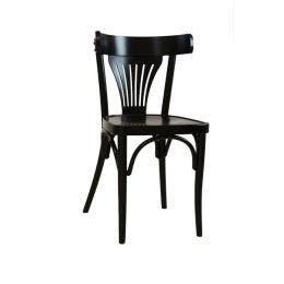 Chaise Bistrot - bois de hêtre - teinte noire