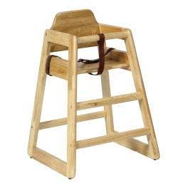 Chaise bébé Eurobambino - bois clair d'hévéa