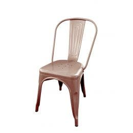 Chaise Jazz - cuivre brillant en métal - 39 x 39 x 76 cm