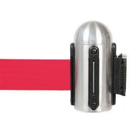 Accroche murale à corde rétractable - rouge - acier inoxydable