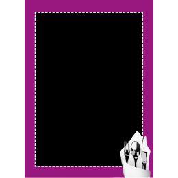 Ardoise noire - cadre violet - 60 x 40 cm