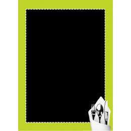Ardoise noire - cadre vert - 60 x 40 cm