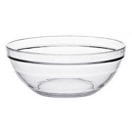 Coupelle ronde empilable en verre transparent - 105x43 mm
