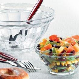 Saladier Picardie en verre transparent de 2,4L - diam 230mm