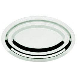 Plat ovale inox - 23 x 15 cm