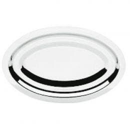 Plat ovale inox - 34 x 28 cm