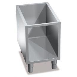 Support ouvert neutre - acier inox - 560 x 300 x 600 mm