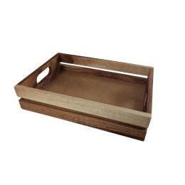Cagette bois - Caisse à burger - 30 x 21 x 7 cm