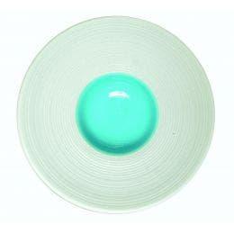 Coupelle en porcelaine blanche - 100 mm - intérieur bleu clair
