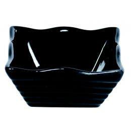Mini coupelle carrée en porcelaine noire - 60x60 mm
