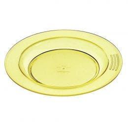 Assiette 1/2 creuse jaune de 180 mm