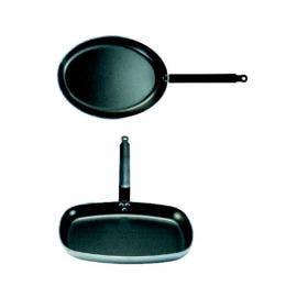 Poêle ovale anti-adhésive - 36x26x4,3 cm