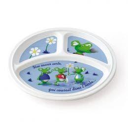 Assiette ronde 3 compartiments 215 mm