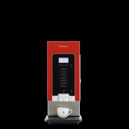 Distributeur rouge - 3 bacs/2 mélangeurs - pour tasses/gobelets