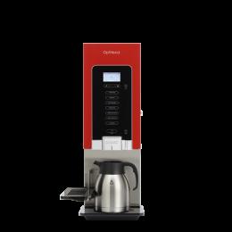 Distributeur rouge - 1 bac /1 mélangeur - modèle étroit et haut