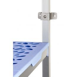 Platine de fixation murale pour rayonnage a clayettes -50x50x50 mm