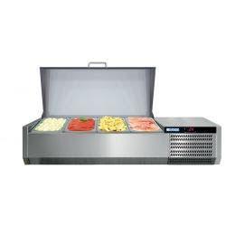 Console réfrigérée GN1/3 - couvercle inox - 1450 x 395 x 250/620