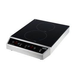 Plancha à induction posable - 2 foyers - 392 x 526 x 110 mm