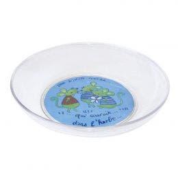 Assiette creuse Souris Verte 3D Transparente de 185mm