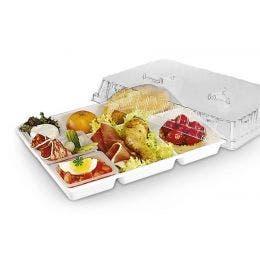 Couvercle pour plateau repas 5 compartiments 33x22,3x3,4 cm