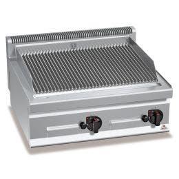 Pierre de lave gaz double à poser - 700 x 800 x 290 - 13,8 kw