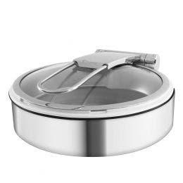 Chafing dish en acier finition miroir avec bac porcelaine