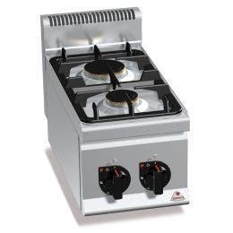 2 brûleurs en alliage aluminium et laiton - 600 x 300 x 290 mm