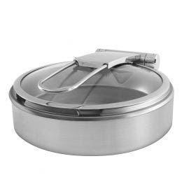 Chafing dish en acier inoxydable finition brossée avec bac