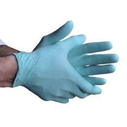 Gants en nitrile non poudré bleu taille XL