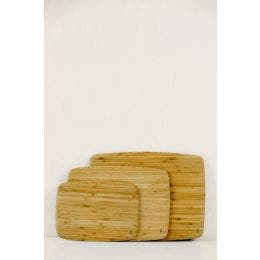 Bambou planche à découper - bords arrondis - 28 x 20 x 0.8 cm