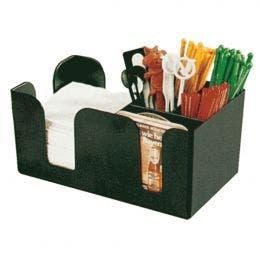 Boîte 6 compartiments - 24 x 14,5 x 10,5 cm - plastique noir