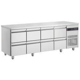 Table gastronome GN1/1 - 571L - 8 tiroirs - 2240x700x875 mm.