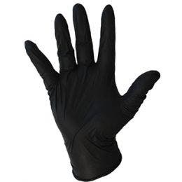 Gant nitrile noir en taille L