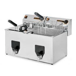 Friteuse à poser - cuve 2 x 10 litres - production 20+20kg/h