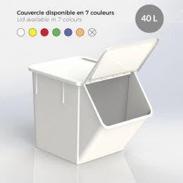 Couvercle blanc pour bac 40 L