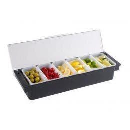 Boîte à 6 compartiments - 50 x 16 x 9 mm - Bacs 450 ml