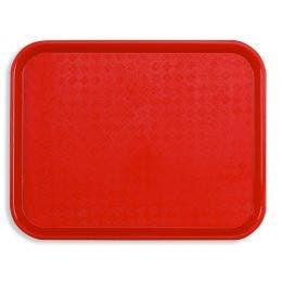 Plateau Fast food 46x36 cm rouge