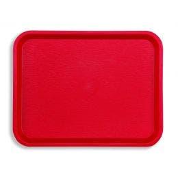 Plateau Fast food 26x36 cm rouge